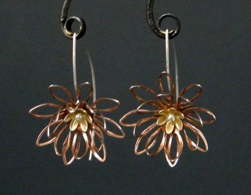 Spiky flower earrings