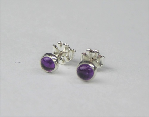 Amythest Ear Studs